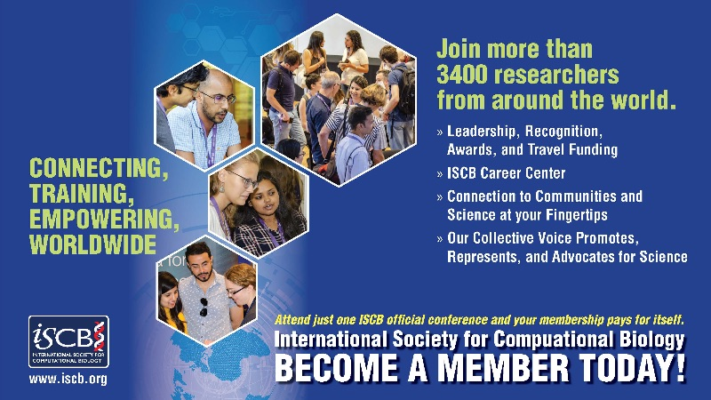 Invest in you, your research field - Become an ISCB Member Today!
