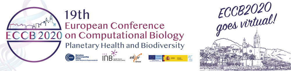 19th European Conference on Computational Biology (ECCB2020) from August 31st until September 8th, 2020.