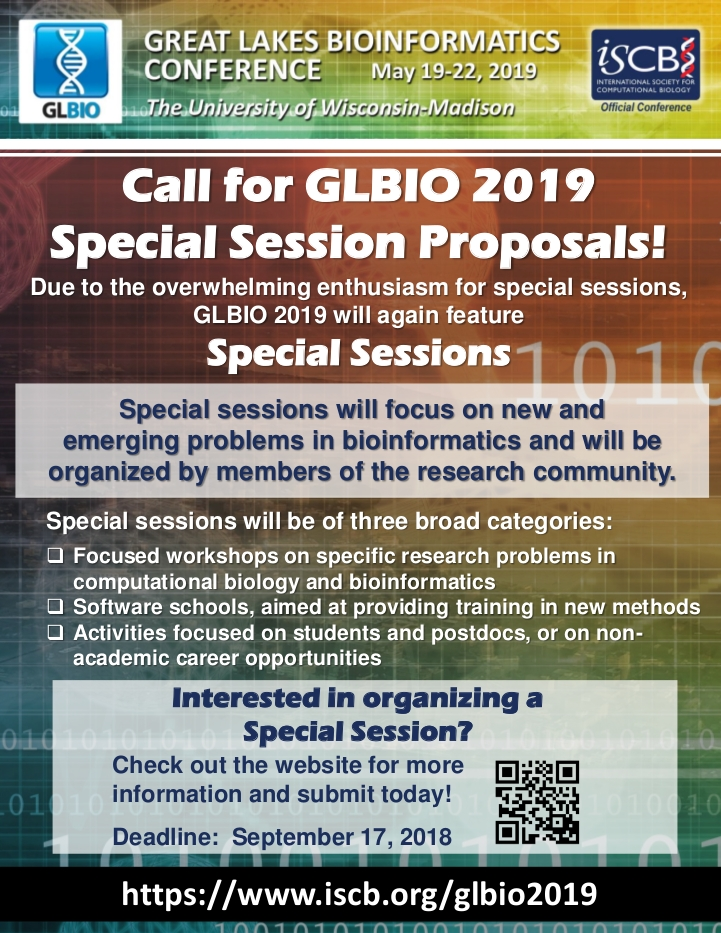 GLBIO 2019: Call for Special Sessions!