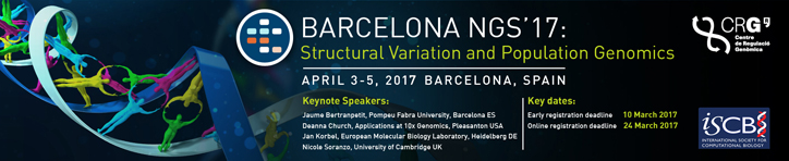 NGS 2017, BARCELONA, SPAIN APRIL  3 – 5, 2017