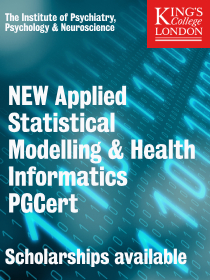 Applied Statistical Modelling and Health Informatics PG Cert, King's College London