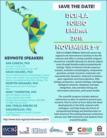 5th International Society for Computational Biology Latin America, SOIBIO and EMBnet Joint Bioinformatics Conference 2018 (ISCB-LA SOIBIO EMBnet 2018)