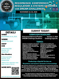 RSG with DREAM 2020, Nov 16 - 19, 2020, Virtual ISCB Event
