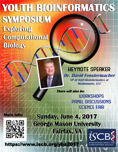 Youth Bioinformatics Symposium (ISCB-YBS), Exploring Computational Biology on June 4, 2017