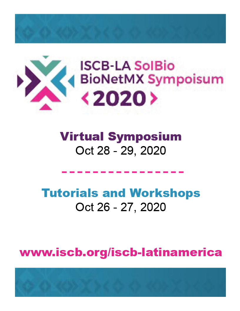 ISCB-LA SoIBio BioNetMX 2020, Oct 28 – 29, 2020, Virtual Symposium