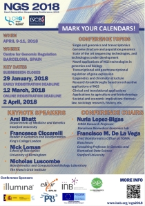 Next Generation Sequencing Conference 2018 (NGS 2018)